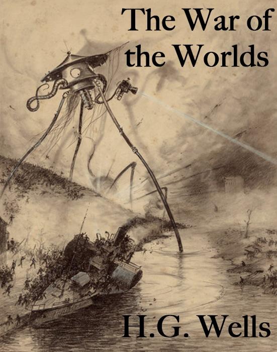 Progetto Gutenberg: Cover originale de La Guerra dei Mondi
